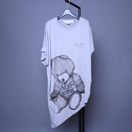 【AFYF】 PREMIUM COOL TECH (冷感接触素材)  COOLTECH TRIANGLE PRINT T [BEAR-GREY]