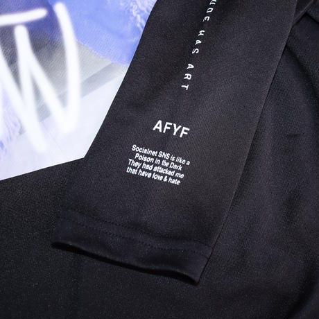 【AFYF】  MESH PRINT LS TEE [BK-YT BEAR]