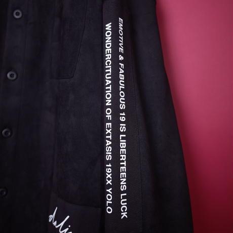 【AFYF】SWEADE PATCH BASSATTO SHIRT[BLACK]/8C20092001