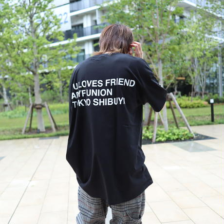 【AFYF ON GILDAN社】 🌈# U LOVES FRIEND T-SHIRTS FLAG F [BLACK]