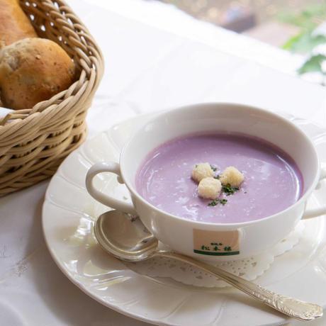 【夏のギフトキャンペーン】スペシャルセット 日比谷松本楼 ハンバーグと紫芋スープのセット (各4個入り)