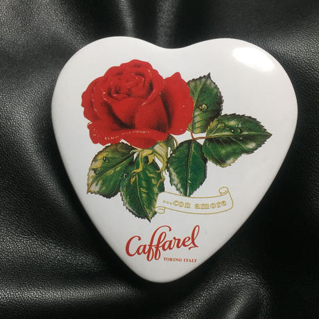 Caffarel Heart and Rose Tin Can