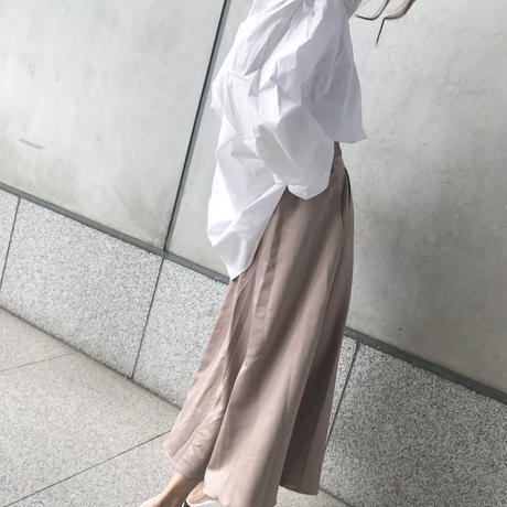 (即納)white loose shirt