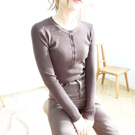 リブsoft knit tops