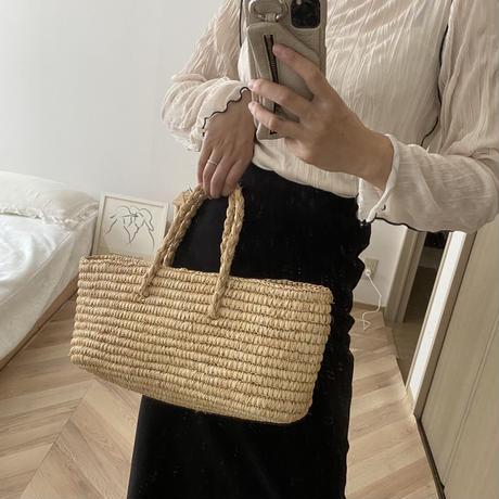 straw rectangle bag