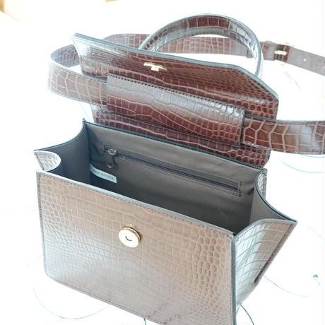 クロコ2way bag