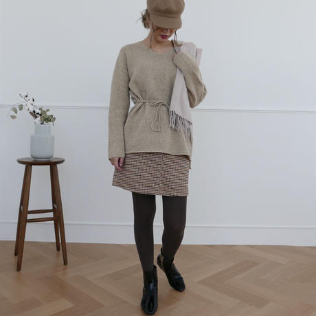 【予約商品】waist ribbon knit