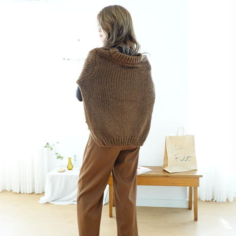 数量限定/marron volume knit