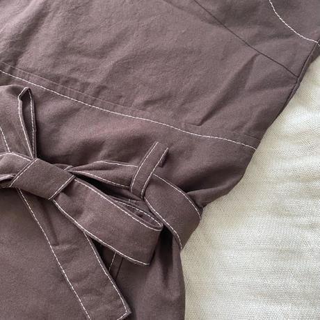 ジャンパースカート(ネイビー/ブラウン)