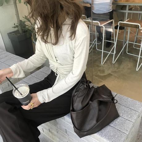 数量限定/waist knot long tee