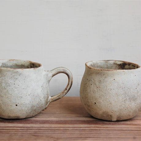 手びねり丸マグカップ  茶