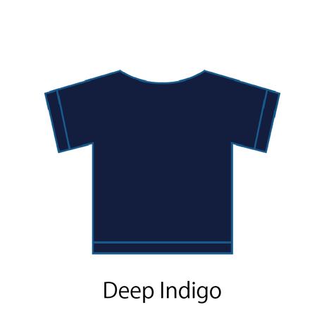 +REBONE / 藍染めサービス 半袖Tシャツ
