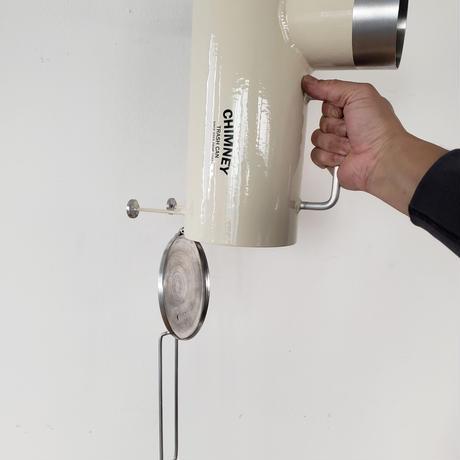 チムニー8号 SPOCK(スポック) アイボリー ゴミ箱 ポータブル
