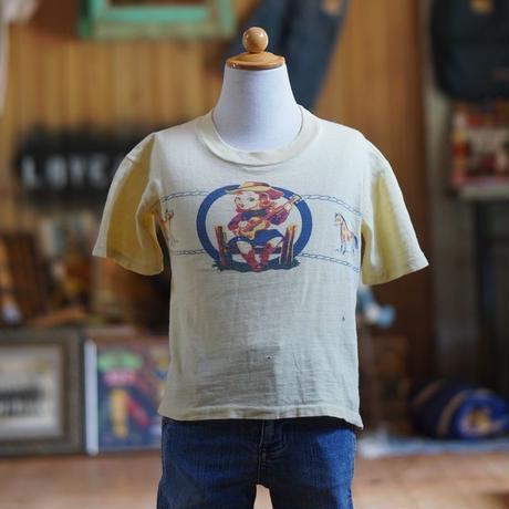 50sヴィンテージカウボーイ柄キッズTシャツ