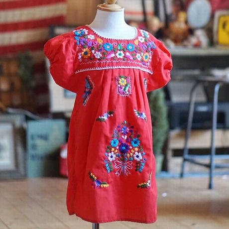 ヴィンテージメキシコ刺繍ワンピース