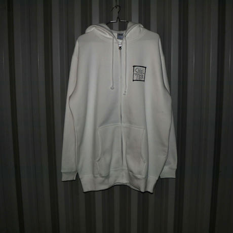Back Print Hoody(White)