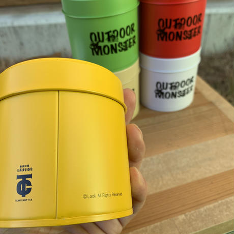 ODM ロゴ茶缶 TeamCampTea