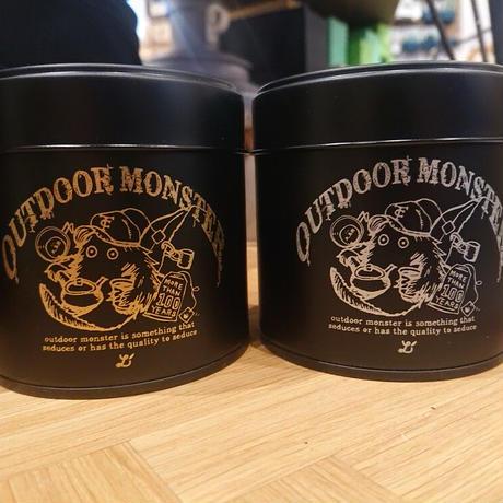【outdoor monster TEA BOY】茶缶 ツヤBLACK