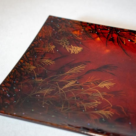 Makie Plate - Autumn Night 蒔絵プレート 秋の夜
