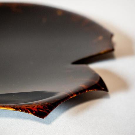 Japanese Silver Leaf Plate 石蕗皿 桂