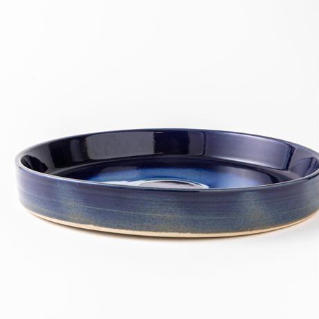 瑠璃釉リム皿051v