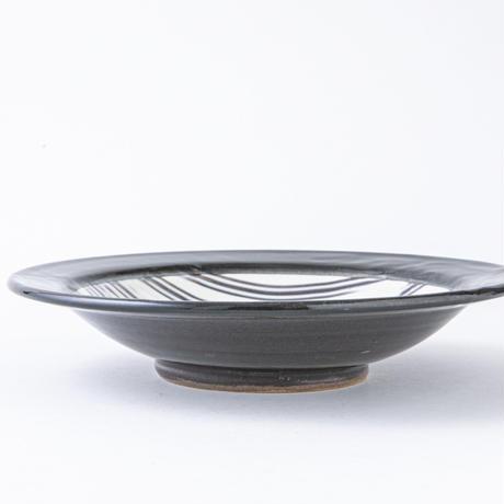 櫛目文皿(黒)053bk