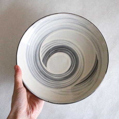 藁刷毛文皿7寸 平皿 取り皿 21cm 068w