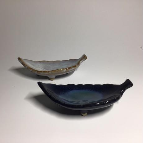 リーフ皿 (瑠璃)063v