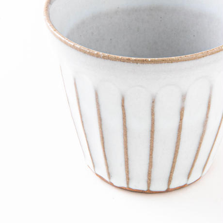 白釉鎬カップ025w