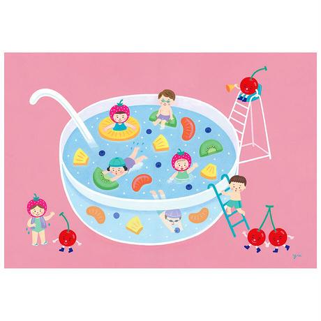 秋永 悠 01「フルーツポンチのプール」