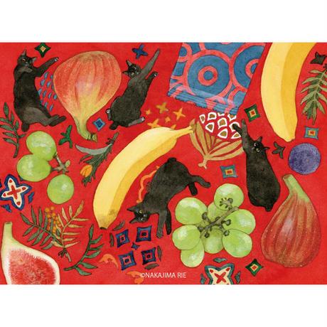 中島梨絵 04「果物と猫」