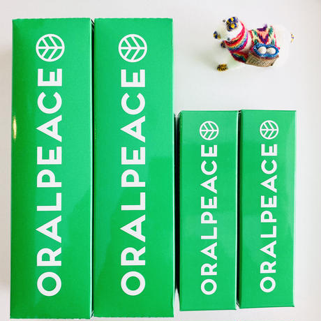 【オーラルピース贈物セット  オリジナル(グリーン)離れて暮らすご両親・祖父母に  オーラルピースをお届けします】オーラルピース オリジナル(グリーン)4アイテム贈物セット