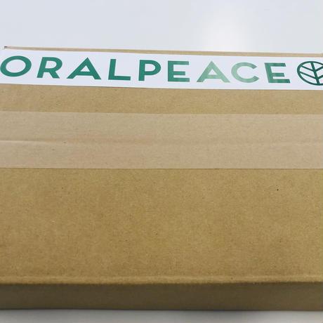 簡易包装ラッピング(贈答、プレゼントに !!)ダンボール+梱包材+オーラルピース 6ヶ国語パンフレット付