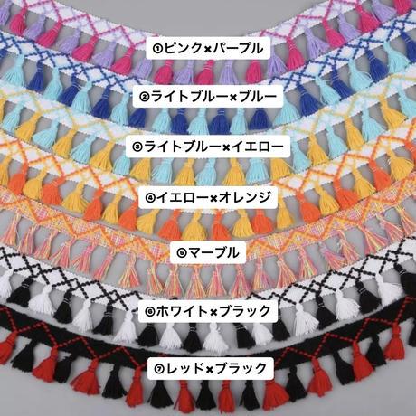 タッセル×刺繍 カラフルなリボン