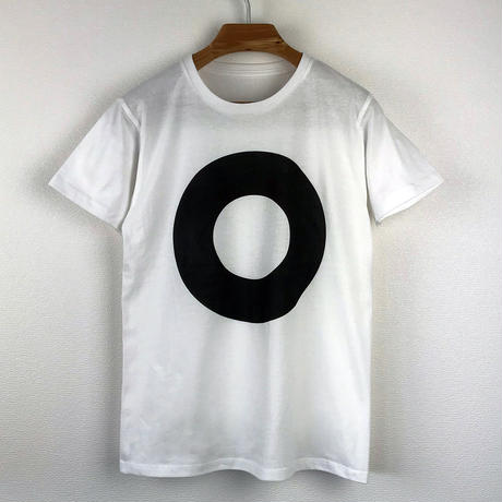 円図Tシャツ_白/スリムシルエット