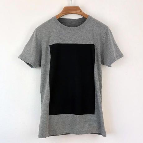 角図Tシャツ_鼠/スリムシルエット