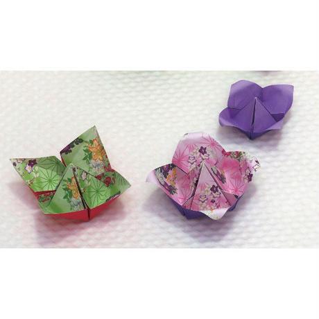両面千代紙 花丸麻の葉