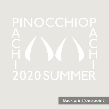 PinocchioP - 八八 -PachiPachi- T-shirt(Vanilla white) + Sticker combo