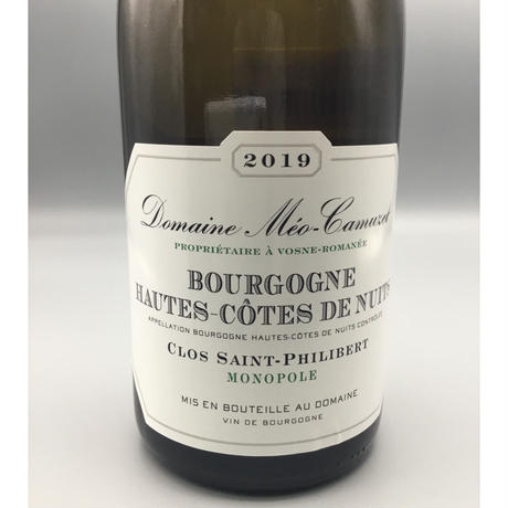 Bourgogne Hautes-Cotes DE Nuits, Clos Saint-Philibert 2019/ Domaine Meo Camuzet/ドメーヌ メオ・カミュゼ