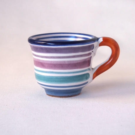 イタリア製 マヨリカ焼 エスプレッソカップ 紫陽花