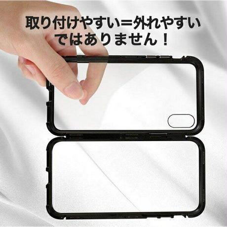 iPhone XS iPhoneXR iPhoneXSMAX iPhoneケース マグネットケース 磁力 カバー シンプル 保護 BLACK SILVER Gold 【画面フィルム1枚付き】