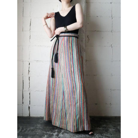 1960~70's Multi Color Long Skirt