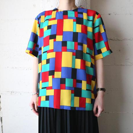 Block Pattern Collarless Blouse YEBLRE