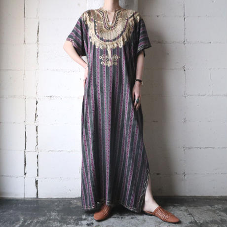 Embroidery Ethnic Pattern Dress GDPI