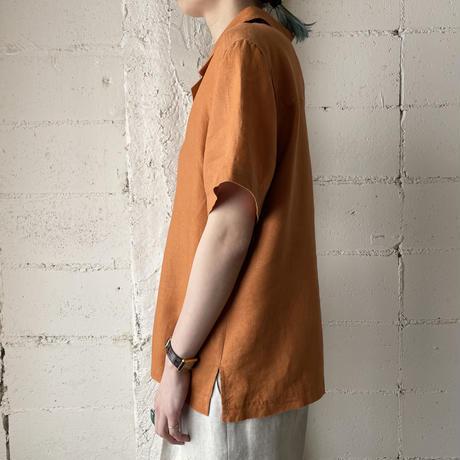 Open Collar Linen Shirt OR