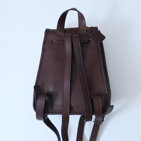 Old COACH  Leather Back Pack DBR