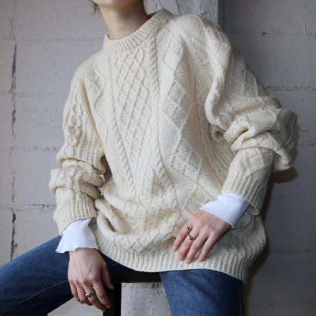 Hand Knit Fisherman's Sweater IV