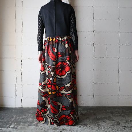Peekaboo Flower Pattern Dress BK RE