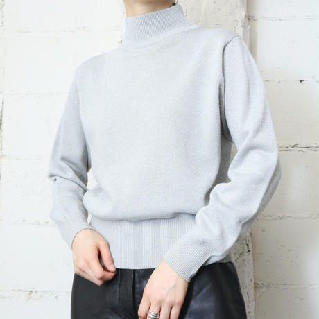 Mock Neck Glitter Knit SV