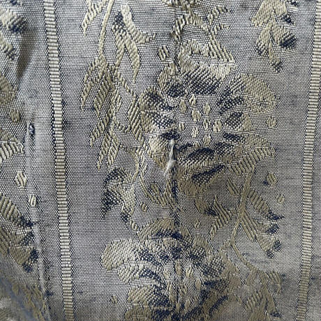 Jacqard Flower Pattern Volume Sleeve Blouse LGN